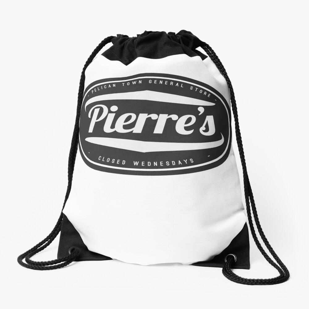 Stardew Valley Pierres General store logo Drawstring Bag