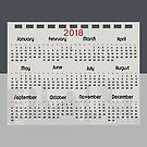 Grey and red Calendar of the year 2018 by ikshvaku
