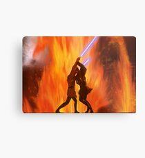 Lava Fight Anakin VS Obi Wan // Star Wars Metal Print