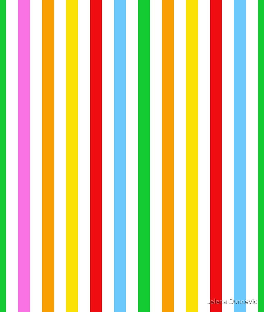 Stripes (Parallel Lines) - Red Blue Green Pink by sitnica