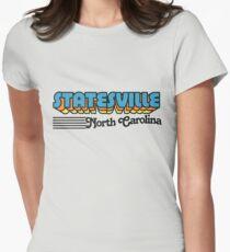 Statesville, North Carolina | Retro Stripes Women's Fitted T-Shirt