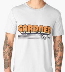 Gardner, Kansas | Retro Stripes Men's Premium T-Shirt