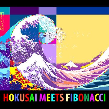 Hokusai Meets Fibonacci, Pop Art Style   by SymbolGrafix