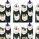 Six cute cats with hats by CecileOhwl