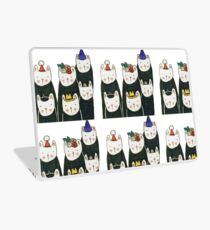 Six cute cats with hats Laptop Skin