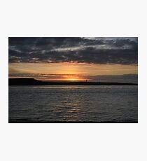 Scattery Island sunset Photographic Print