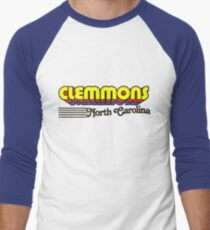 Clemmons, North Carolina | Retro Stripes Men's Baseball ¾ T-Shirt