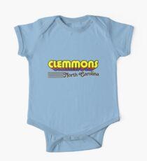 Clemmons, North Carolina | Retro Stripes One Piece - Short Sleeve