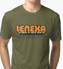 Lenexa, Kansas | Retro Stripes Tri-blend T-Shirt