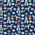 Schnauzer dog breed donuts doughnut pet art schnauzers pure breed gifts by PetFriendly