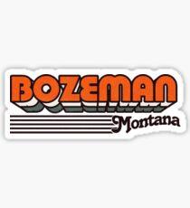Bozeman, Montana   Retro Stripes Sticker