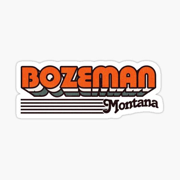 Bozeman, Montana | Retro Stripes Sticker