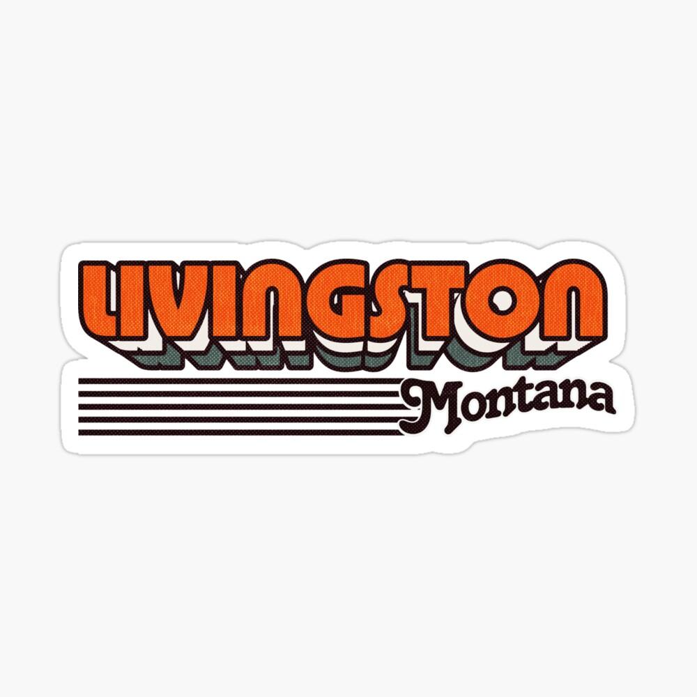 Livingston, Montana | Retro Stripes Sticker