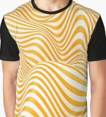 Crazy Striped Waves Graphic T-Shirt