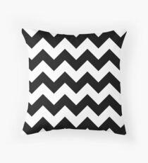 Zigzag Pattern, Chevron Pattern - White Black Throw Pillow