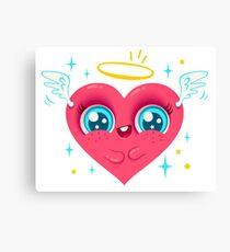 Heart angel Canvas Print