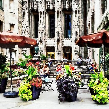 Chicago - Enjoying Lunch on the Magnificent Mile by SudaP0408