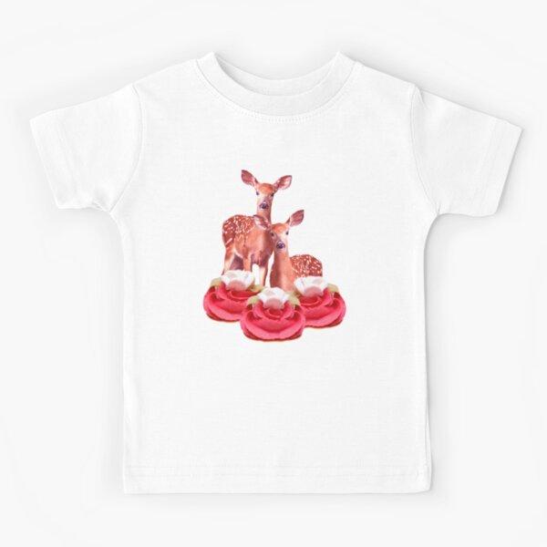 Pink Sugar Bambi by Alice Monber Kids T-Shirt