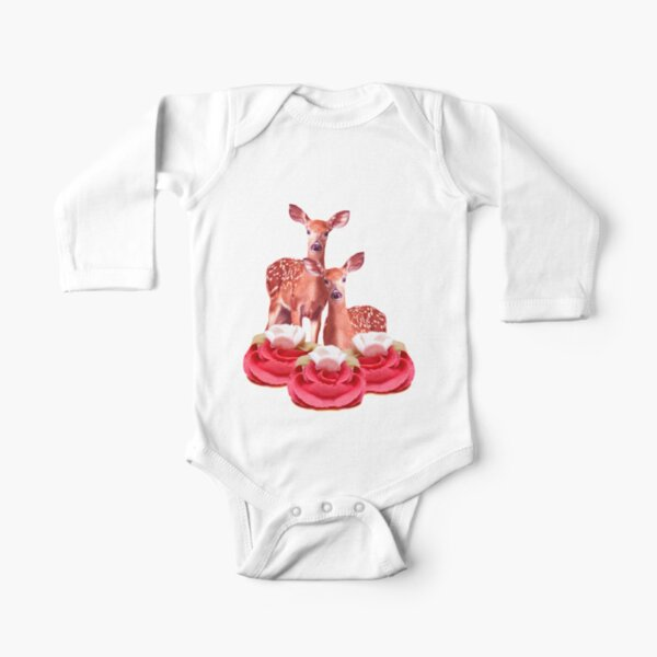 Pink Sugar Bambi by Alice Monber Long Sleeve Baby One-Piece