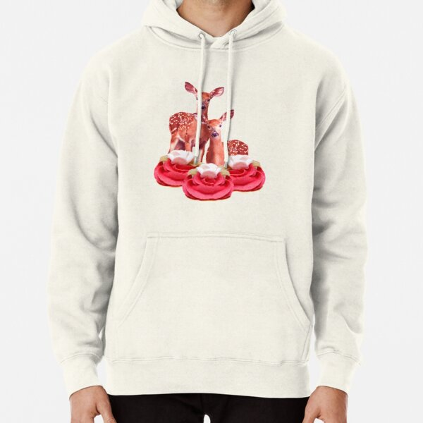 Pink Sugar Bambi by Alice Monber Pullover Hoodie