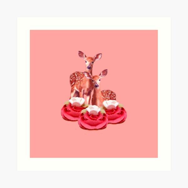 Pink Sugar Bambi by Alice Monber Art Print