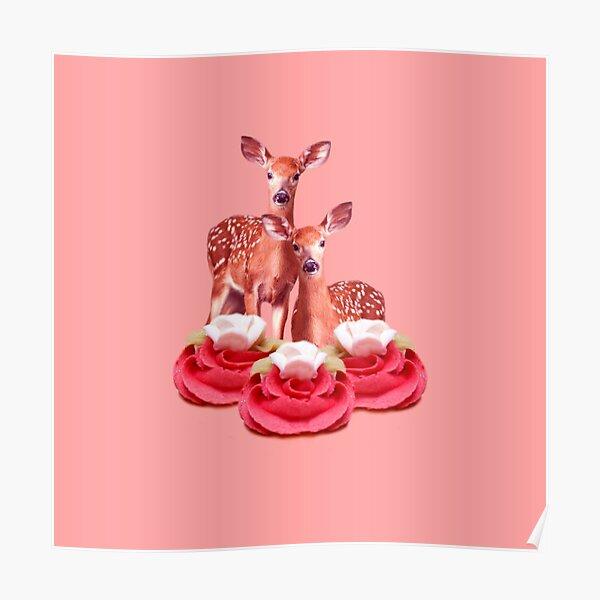 Pink Sugar Bambi by Alice Monber Poster