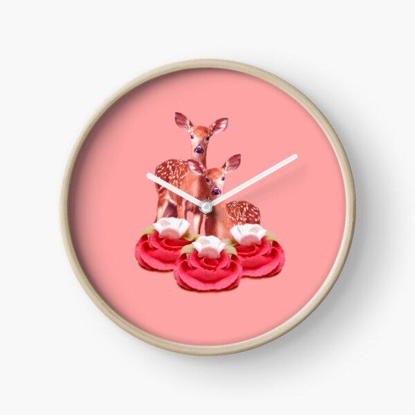 Pink Sugar Bambi by Alice Monber Clock