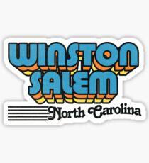 Winston-Salem, North Carolina | Retro Stripes Sticker