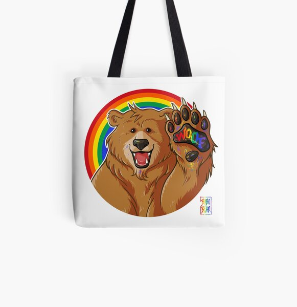BOBO LIKES TO WOOF - GAY PRIDE All Over Print Tote Bag