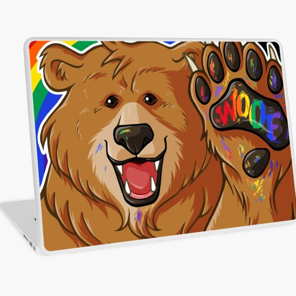 BOBO LIKES TO WOOF - GAY PRIDE Laptop Skin