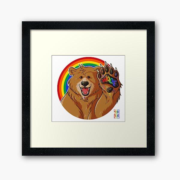 BOBO LIKES TO WOOF - GAY PRIDE Framed Art Print