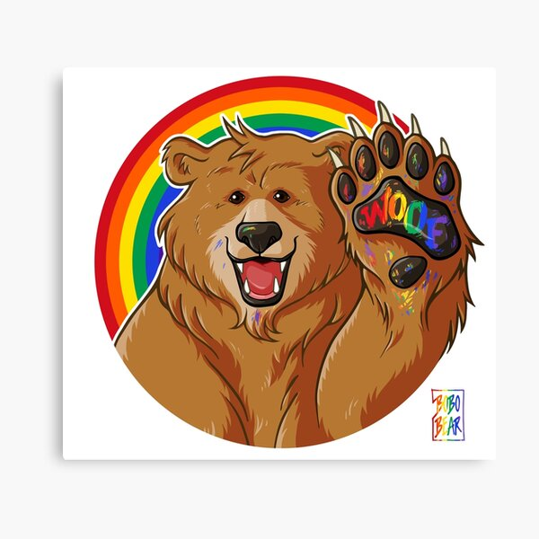 BOBO LIKES TO WOOF - GAY PRIDE Canvas Print