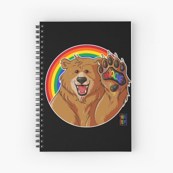 BOBO LIKES TO WOOF - GAY PRIDE Spiral Notebook