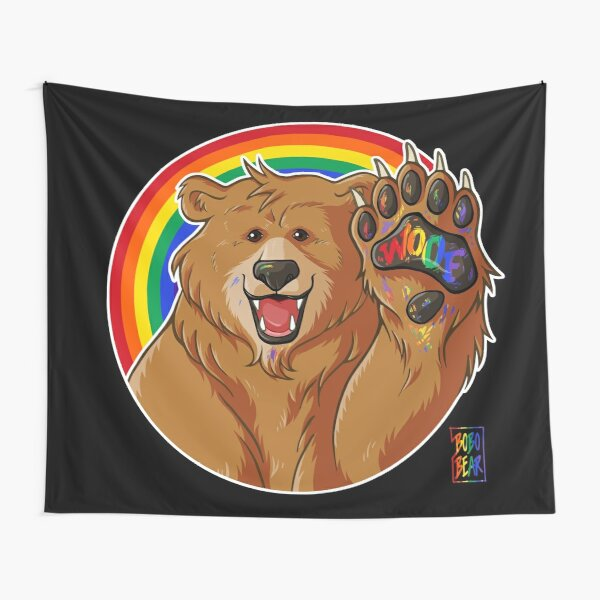 BOBO LIKES TO WOOF - GAY PRIDE Tapestry