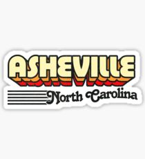 Asheville, North Carolina | Retro Stripes Sticker