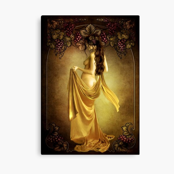 Lady of the Vine Canvas Print