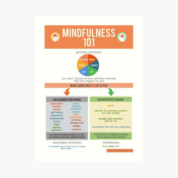Mindfulness 101 Art Print