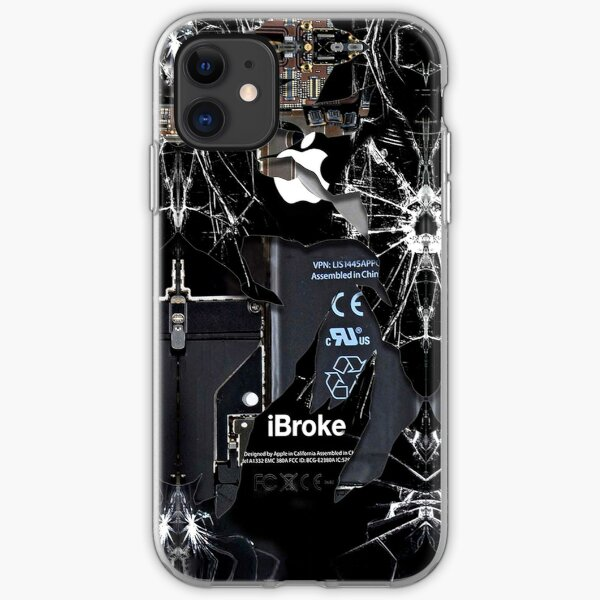 Broken Damaged handphone iPhone Soft Case