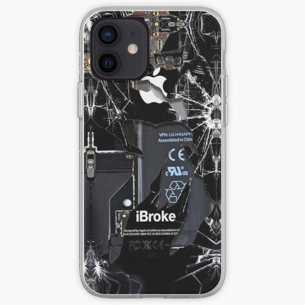 Broken Damaged handphone iPhone Soft Case