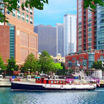 Chicago IL - Chicago River Near Centennial Fountain by SudaP0408