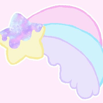 Kawaii Pastel Melty Rainbow Shooting Star by BonBonBunny