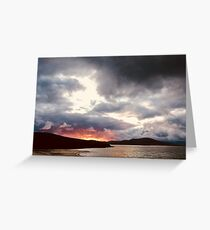 Hebridean Sunset Greeting Card