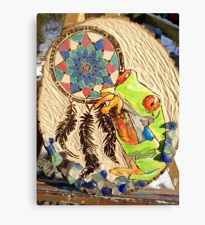 Native American Frog Canvas Print