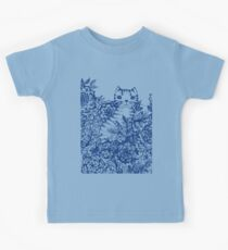 Garden Cat Doodle Kids Tee