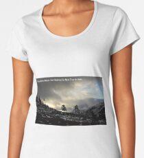 Scottish Highland Scene With John Muir Quote Women's Premium T-Shirt
