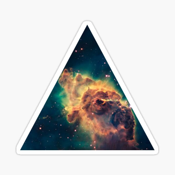 Galaxy Triangle Sticker