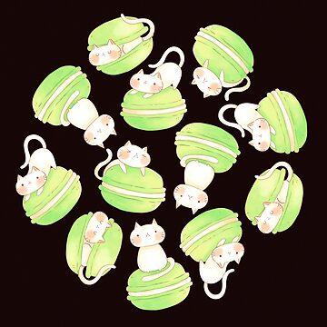 Matcha Macarons & Kätzchen von susanmariel