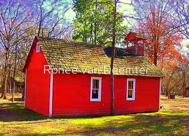Little Red School House by Ronee van Deemter