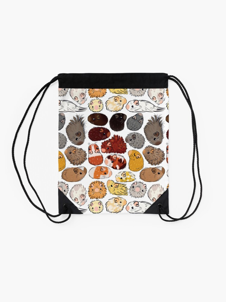 Alternate view of Guinea Pig Gradient Drawstring Bag