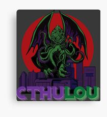 CthuLOU: Cthulhu Attack On Louisville Canvas Print